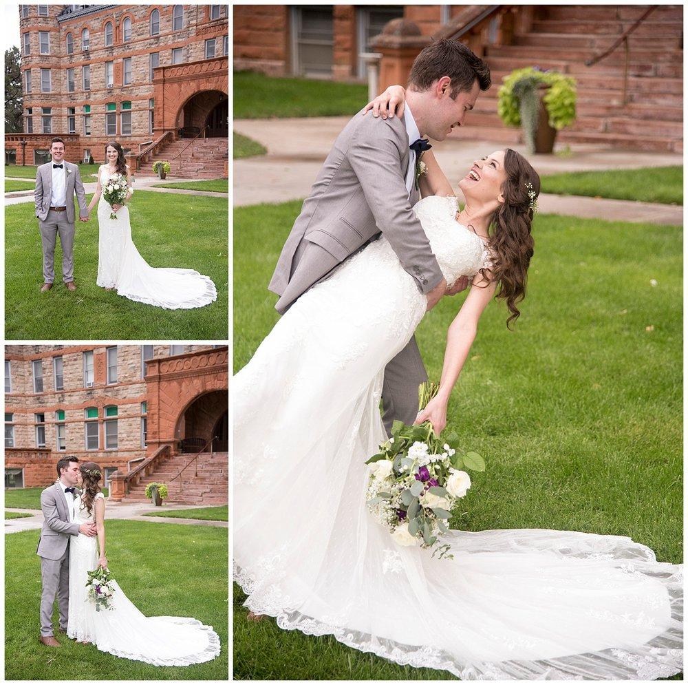 Groom Kissing and Dipping Bride | Bethany and Jono's Intimate DIY Wedding | Colorado Springs Wedding Photographer | Farm Wedding Photographer | Apollo Fields Wedding Photojournalism
