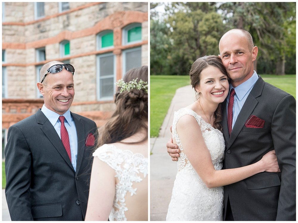Bride & Father | Bethany and Jono's Intimate DIY Wedding | Colorado Springs Wedding Photographer | Farm Wedding Photographer | Apollo Fields Wedding Photojournalism