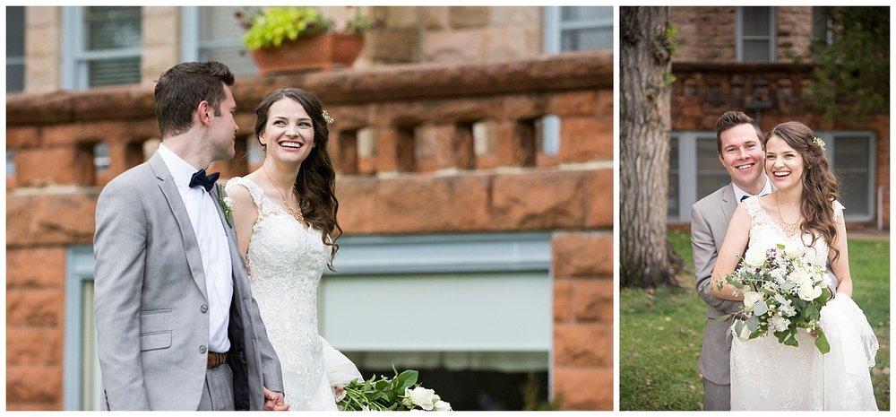 Happy Bride & Groom | Bethany and Jono's Intimate DIY Wedding | Colorado Springs Wedding Photographer | Farm Wedding Photographer | Apollo Fields Wedding Photojournalism