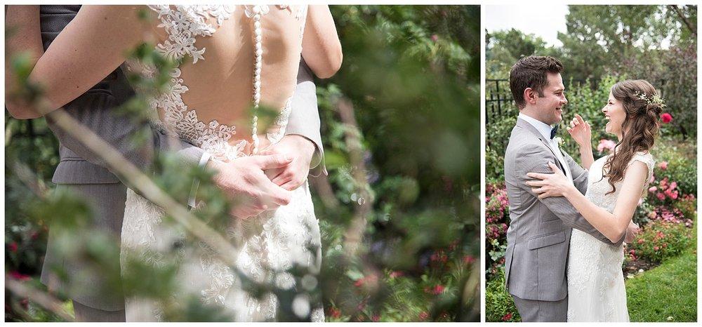 Young Bride & Groom Smiling | Bethany and Jono's Intimate DIY Wedding | Colorado Springs Wedding Photographer | Farm Wedding Photographer | Apollo Fields Wedding Photojournalism