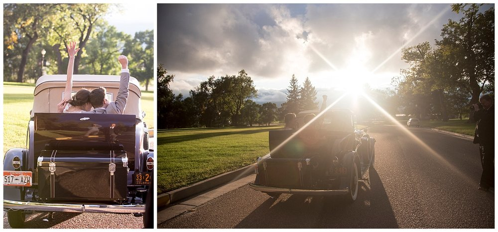 Bride and Groom Epic Exit | Bethany and Jono's Intimate DIY Wedding | Colorado Springs Wedding Photographer | Farm Wedding Photographer | Apollo Fields Wedding Photojournalism