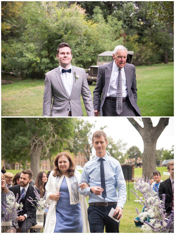 Cute Family Walking Down Aisle | Bethany and Jono's Intimate DIY Wedding | Colorado Springs Wedding Photographer | Farm Wedding Photographer | Apollo Fields Wedding Photojournalism
