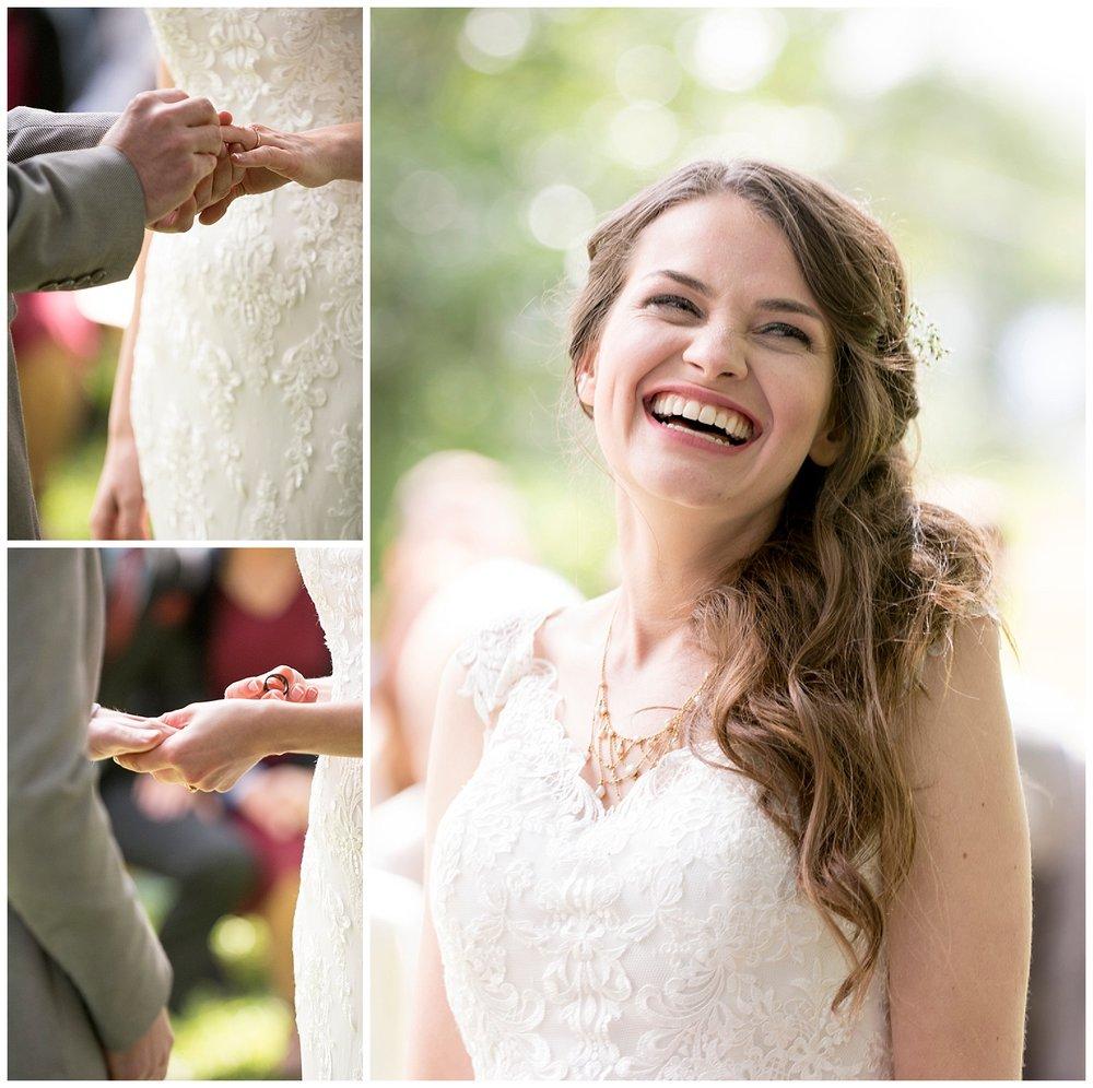 Beautiful Bride Smiling | Bethany and Jono's Intimate DIY Wedding | Colorado Springs Wedding Photographer | Farm Wedding Photographer | Apollo Fields Wedding Photojournalism