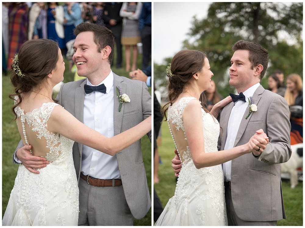 Bride and Groom's First Dance in the Woods | Bethany and Jono's Intimate DIY Wedding | Colorado Springs Wedding Photographer | Farm Wedding Photographer | Apollo Fields Wedding Photojournalism