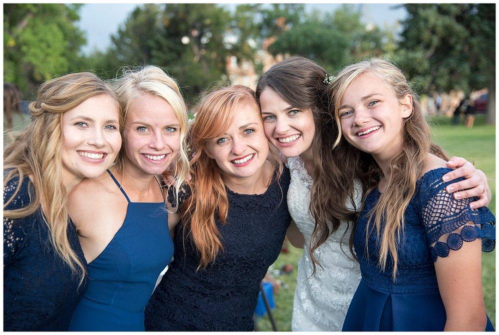 Beautiful Bridal Party | Bethany and Jono's Intimate DIY Wedding | Colorado Springs Wedding Photographer | Farm Wedding Photographer | Apollo Fields Wedding Photojournalism