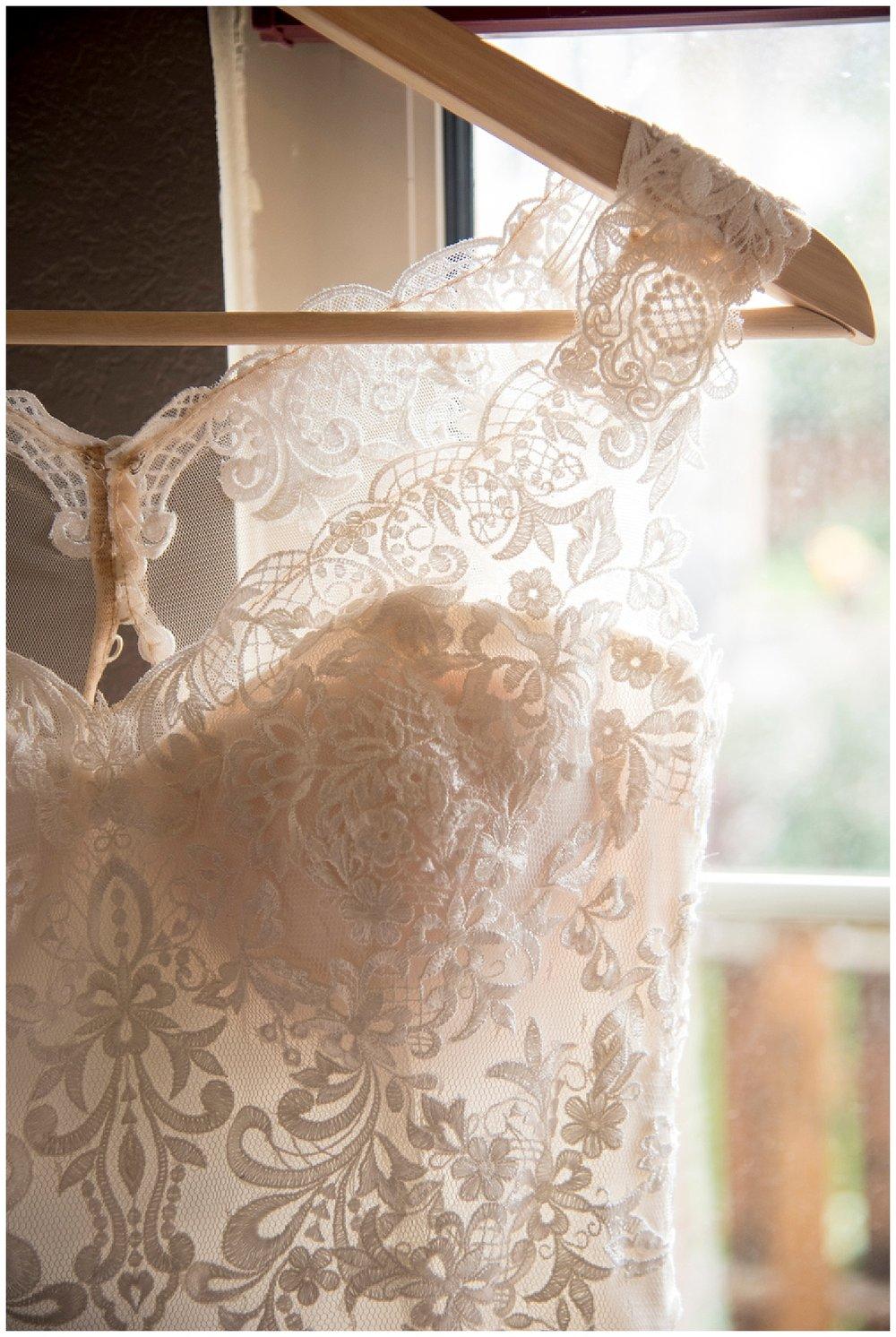 Gorgeous Wedding Dress | Bethany and Jono's Intimate DIY Wedding | Colorado Springs Wedding Photographer | Farm Wedding Photographer | Apollo Fields Wedding Photojournalism