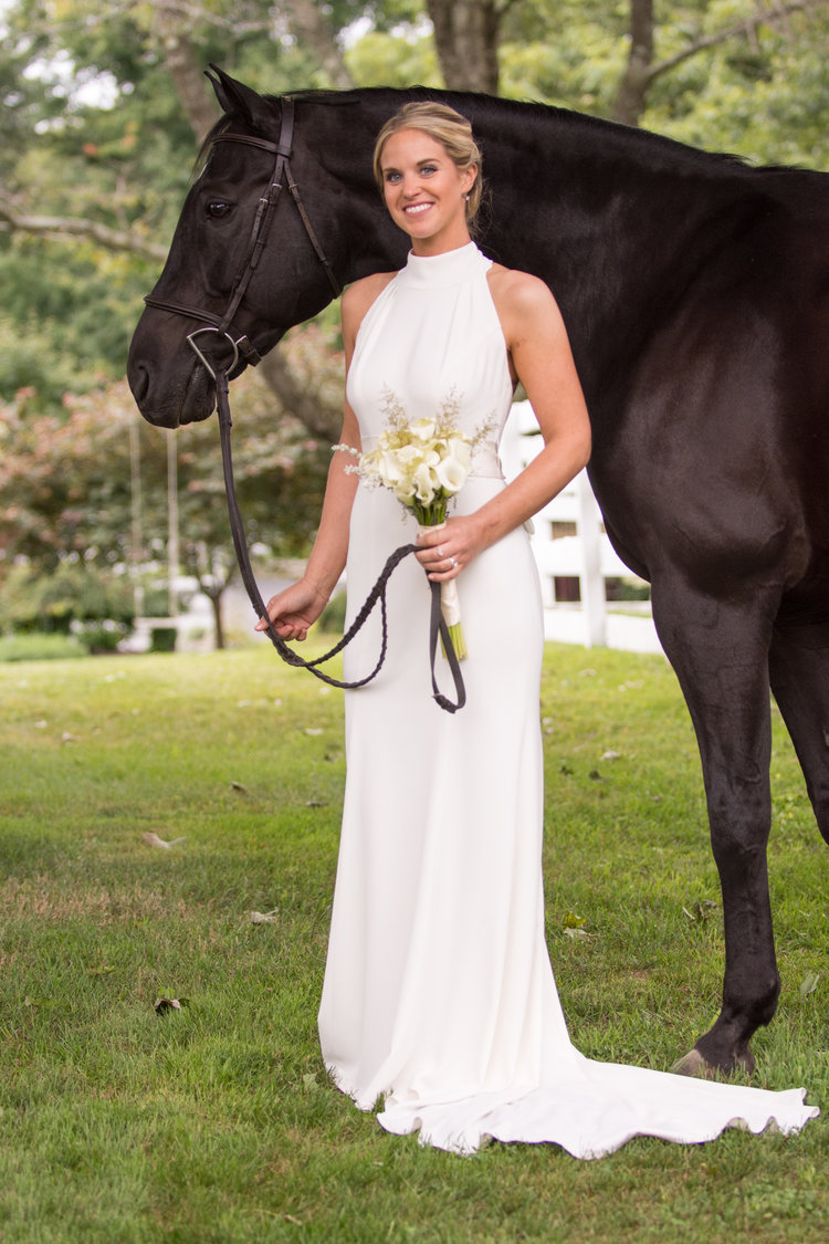 Tori and Colin | Bride and Horse Photograph | Outdoor Equestrian Wedding in Upstate New York | Farm Wedding Photographer | Apollo Fields Wedding Photojournalism