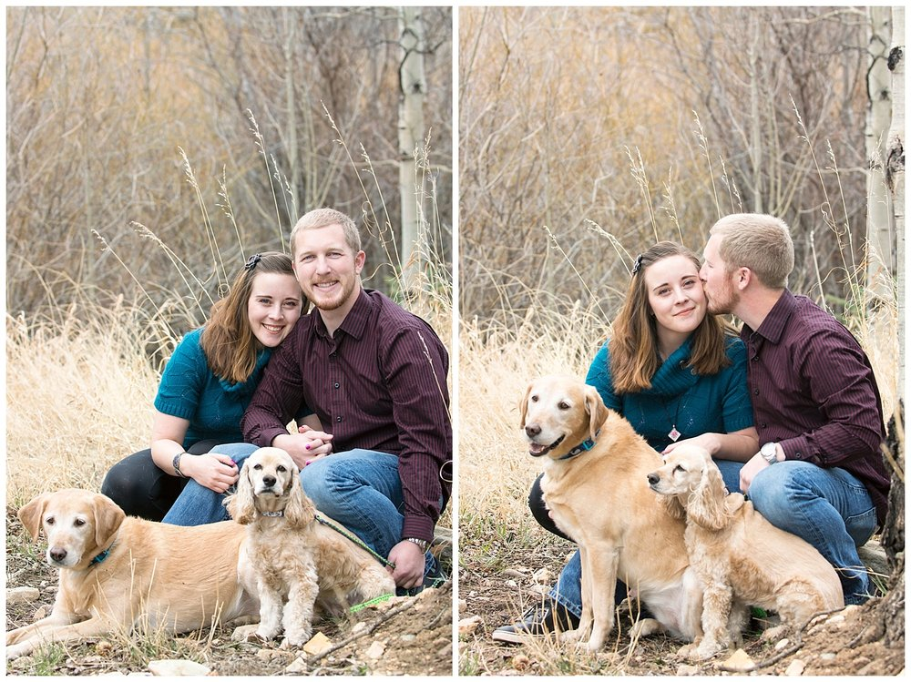 Couple With Their Dogs | Mountain Engagement Photography | Golden Colorado Wedding Photographer | Farm Wedding Photographer | Apollo Fields Wedding Photojournalism