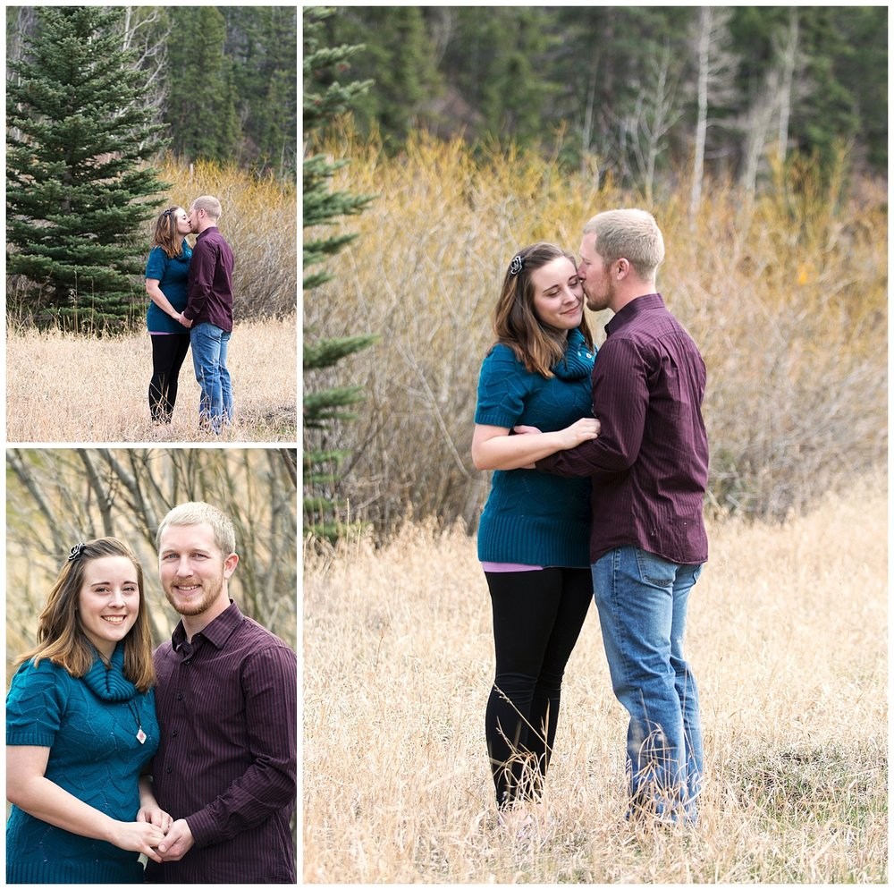 Couple Smiling | Mountain Engagement Photography | Golden Colorado Wedding Photographer | Farm Wedding Photographer | Apollo Fields Wedding Photojournalism