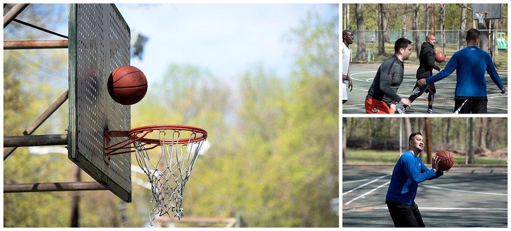 Basketball Bouncing off Backboard   Intimate Wedding Photographer   New York State Wedding Photographer   Farm Wedding Photographer   Apollo Fields Wedding Photojournalism