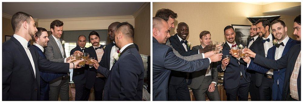 Groomsmen Cheers Photography   Intimate Wedding Photographer   New York State Wedding Photographer   Farm Wedding Photographer   Apollo Fields Wedding Photojournalism