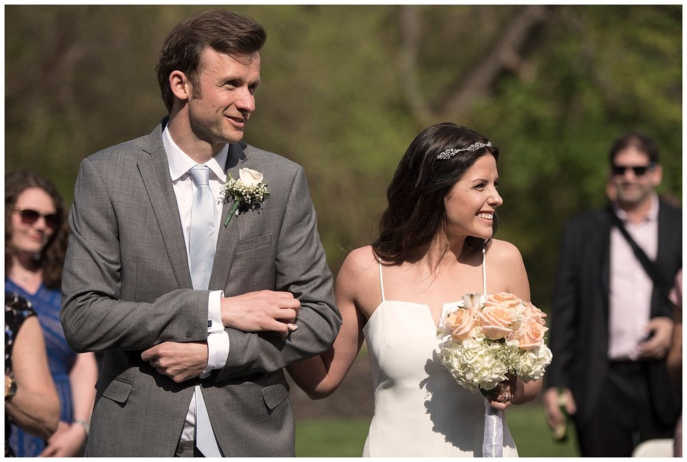 Bride Walking Down Aisle   Intimate Wedding Photographer   New York State Wedding Photographer   Farm Wedding Photographer   Apollo Fields Wedding Photojournalism