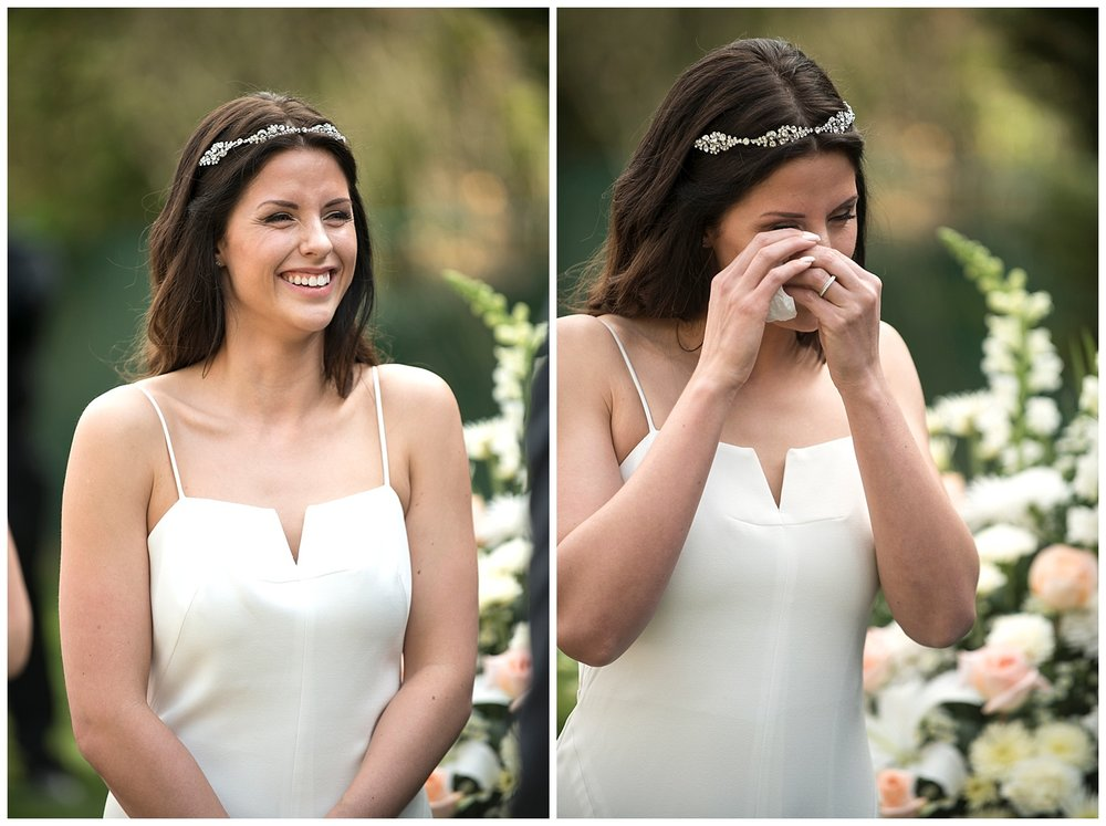 Bride Crying | Intimate Wedding Photographer | New York State Wedding Photographer | Farm Wedding Photographer | Apollo Fields Wedding Photojournalism
