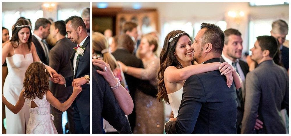 Groom Hugging Daughter   Intimate Wedding Photographer   New York State Wedding Photographer   Farm Wedding Photographer   Apollo Fields Wedding Photojournalism