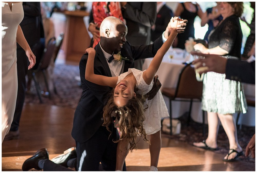 Flower Girl Dancing   Intimate Wedding Photographer   New York State Wedding Photographer   Farm Wedding Photographer   Apollo Fields Wedding Photojournalism