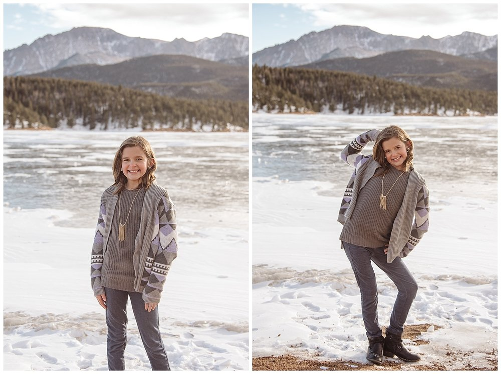 Young Girl Posing | Jenny and Tara's Epic Mountain Engagement Session | Pikes Peak, Colorado Photography | Farm Wedding Photographer | Apollo Fields Wedding Photojournalism
