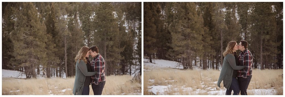 Young Couple Embracing | Jenny and Tara's Epic Mountain Engagement Session | Pikes Peak, Colorado Photography | Farm Wedding Photographer | Apollo Fields Wedding Photojournalism