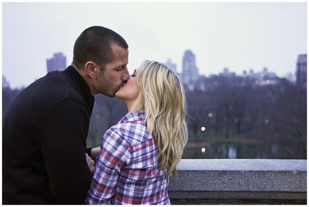 Couple Kissing | Central Park Engagement Photographer | Bethesda Fountain Wedding Photographer | Farm Wedding Photographer | Apollo Fields Wedding Photojournalism