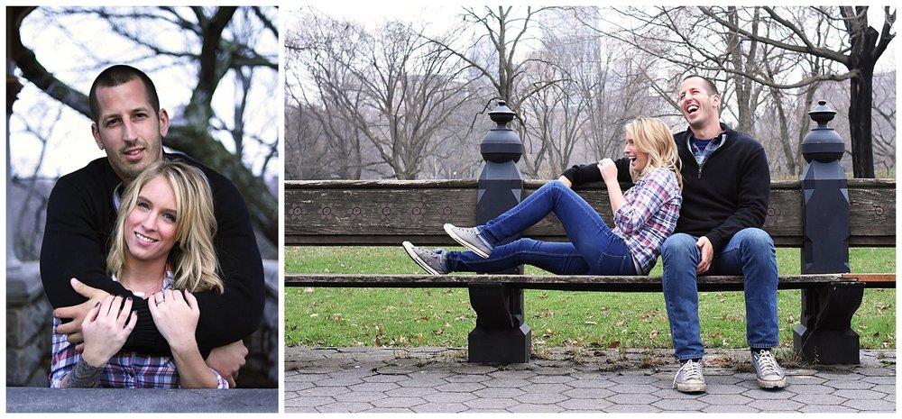 Woman Embracing Man | Central Park Engagement Photographer | Farm Wedding Photographer | Apollo Fields Wedding Photojournalism