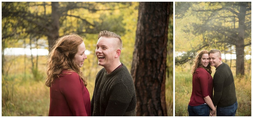 Laughing in the Woods Mountain Engagement | Don & Aliyah's Mountain Engagement Photography | Farm Wedding Photographer | Apollo Fields Wedding Wedding Photojournalism