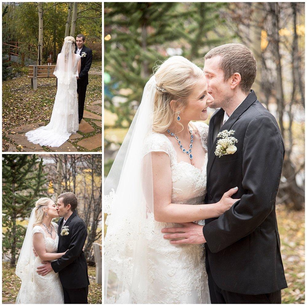 Bride & Groom First Look | Chris & Destiny's Destination Wedding | Breckenridge Wedding Photographer | Colorado Farm Wedding Photographer | Apollo Fields Wedding Photojournalism