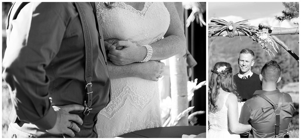 Black and White Collage | Carolyn and Shawn's Wild Horse Inn Wedding at Devil's Thumb Ranch | Fraser Colorado Photography | Farm Wedding Photographer | Apollo Fields Wedding Photojournalism
