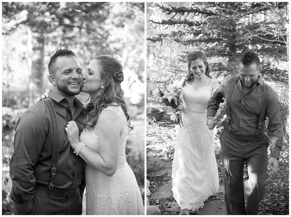 Black and White Bride and Groom in Love | Carolyn and Shawn's Wild Horse Inn Wedding at Devil's Thumb Ranch | Fraser Colorado Photography | Farm Wedding Photographer | Apollo Fields Photojournalism