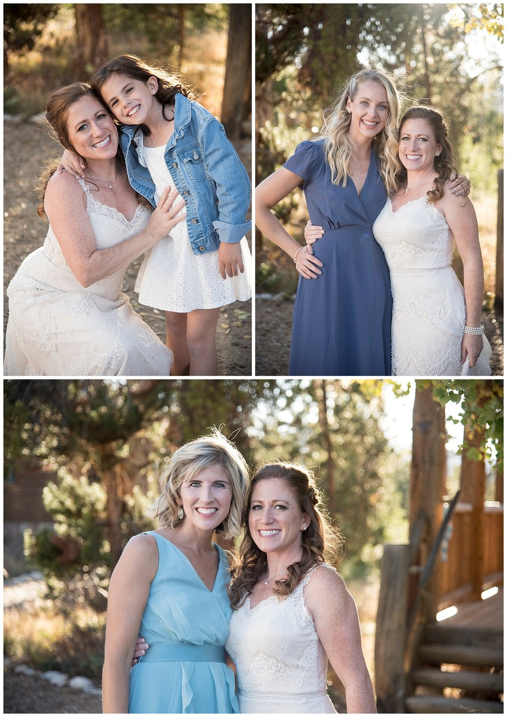 Family Photo Collage | Carolyn and Shawn's Wild Horse Inn Wedding at Devil's Thumb Ranch | Fraser Colorado Photography | Farm Wedding Photographer | Apollo Fields Wedding Photojournalism