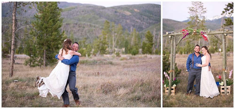 Real Couple Dancing in the Mountains | Carolyn and Shawn's Wild Horse Inn Wedding at Devil's Thumb Ranch | Fraser Colorado | Farm Wedding Photographer | Apollo Fields Wedding Photojournalism
