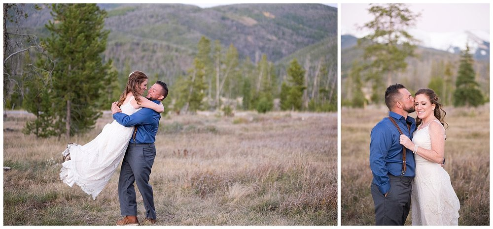 Real Couple Dancing at their Mountain Wedding | Carolyn and Shawn's Wild Horse Inn Wedding at Devil's Thumb Ranch | Fraser Colorado Photography | Farm Wedding | Apollo Fields Photojournalism