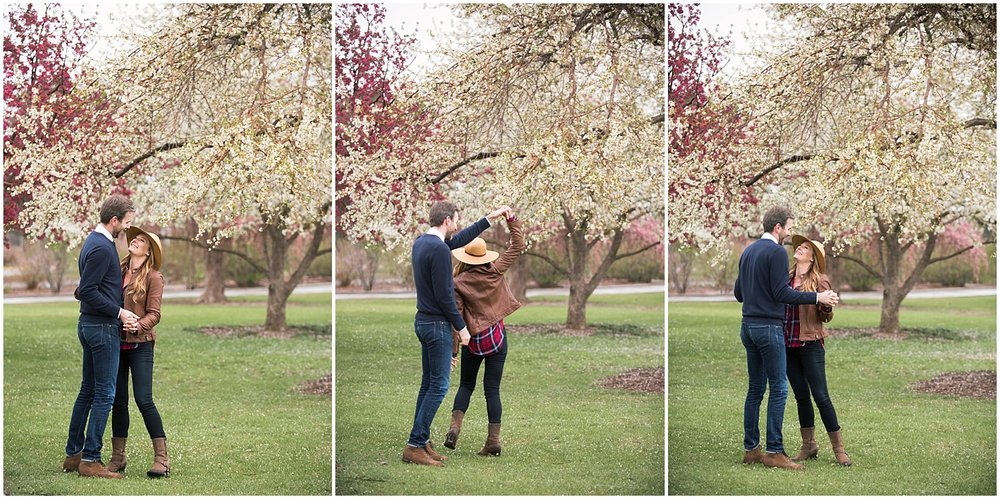 Cherry Blossom Engagement Photos Colorado Wedding Photographer