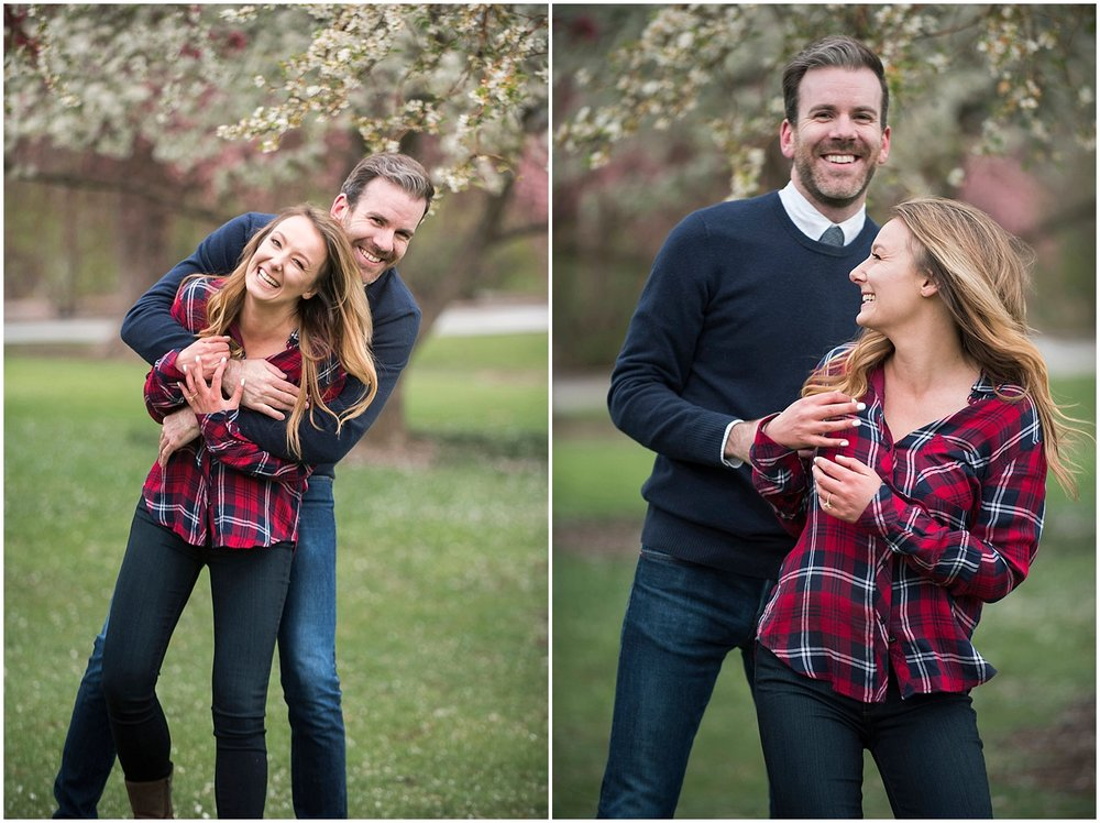 Cherry Blossom Engagement Photos Denver Photographer