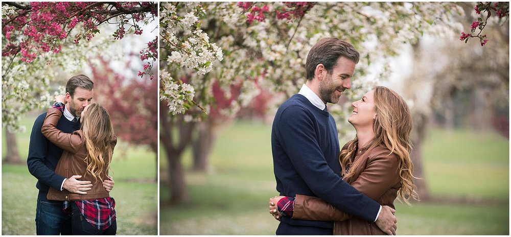 Boho Cherry Blossom Engagement Photos