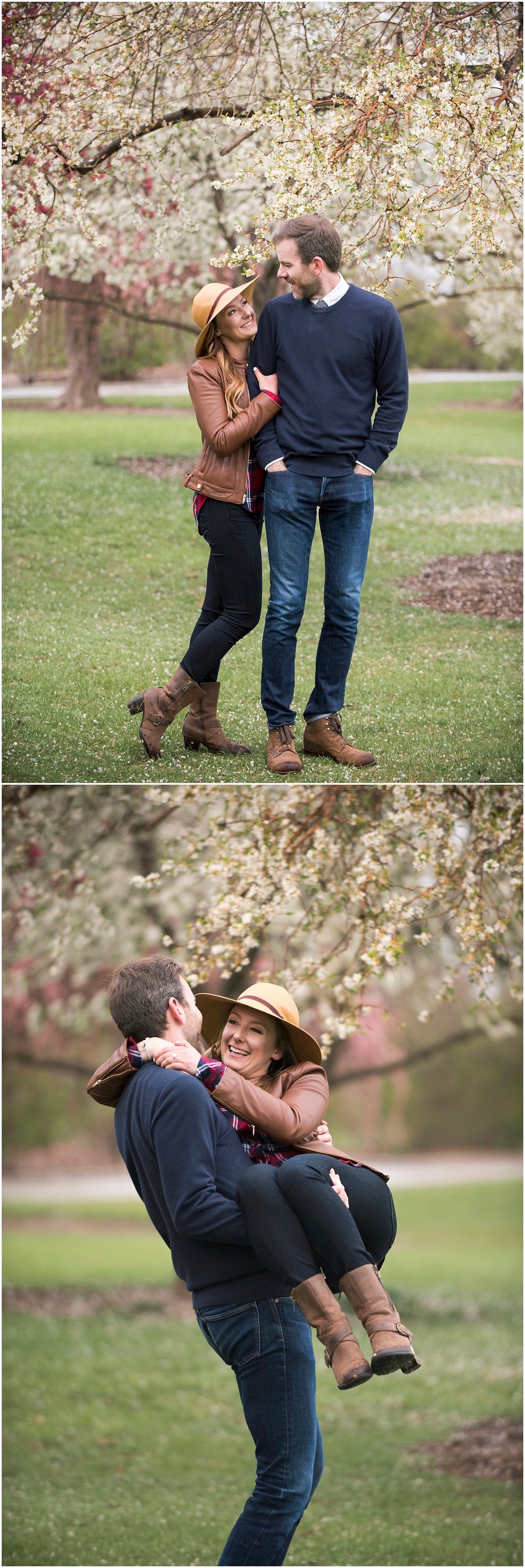 Romantic Photography Cherry Blossom Engagement Photos