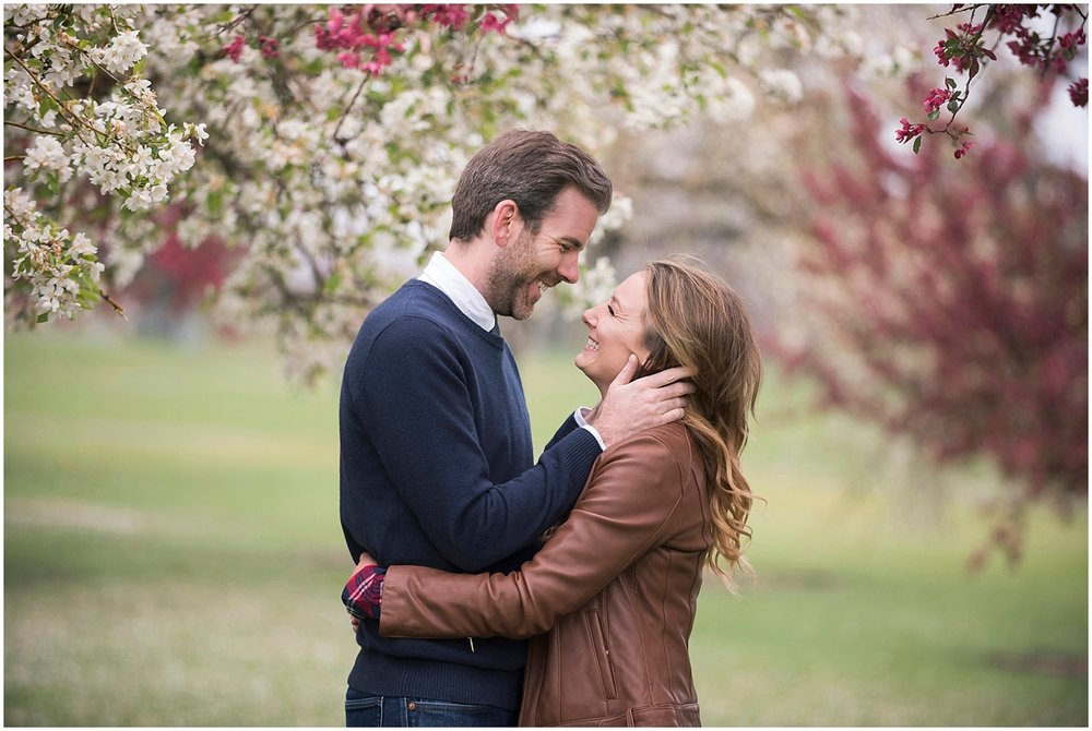 Modern Couples Cherry Blossom Engagement Photos Colorado Wedding Photographer