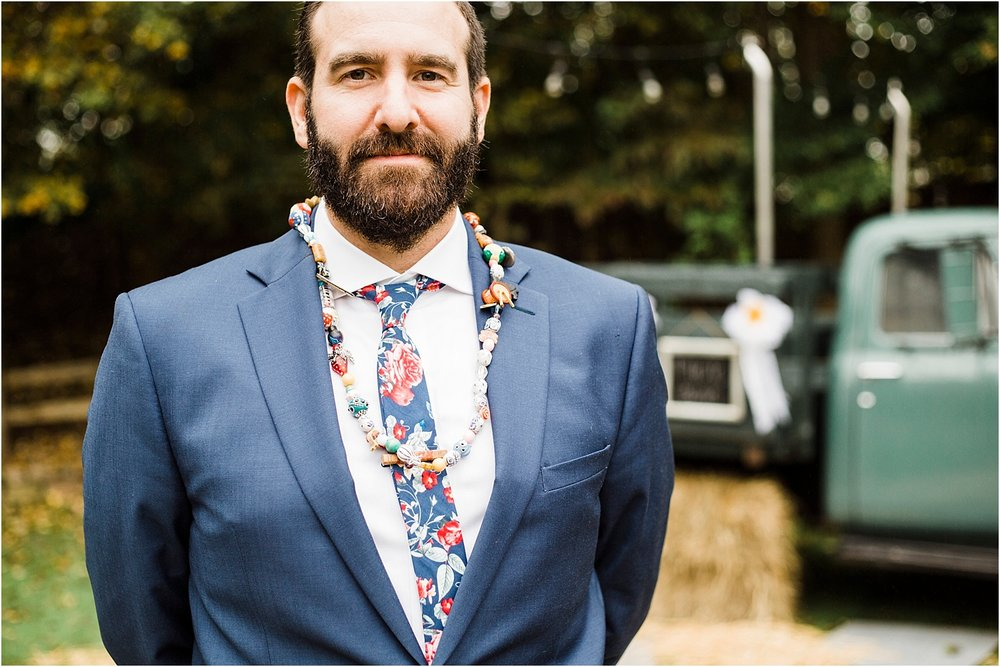 Wedding Officiant Wearing Mama Beads