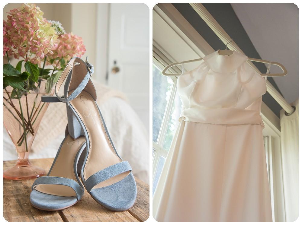 Farm Wedding Dress Blue Wedding Shoes