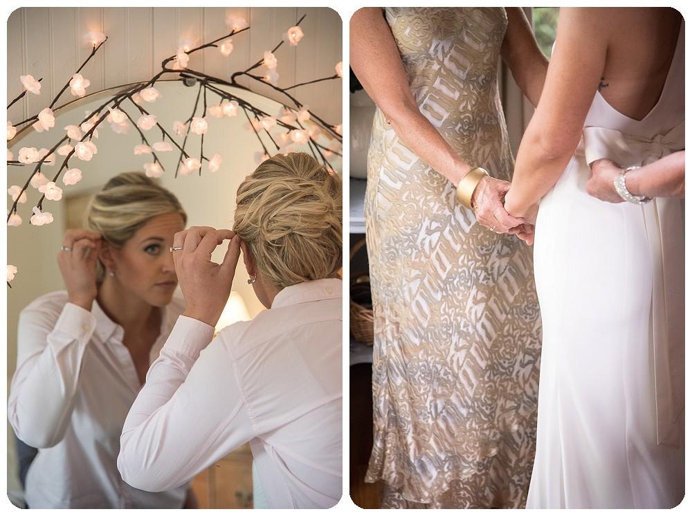 Bride Getting Ready Upstate New York Farm Wedding