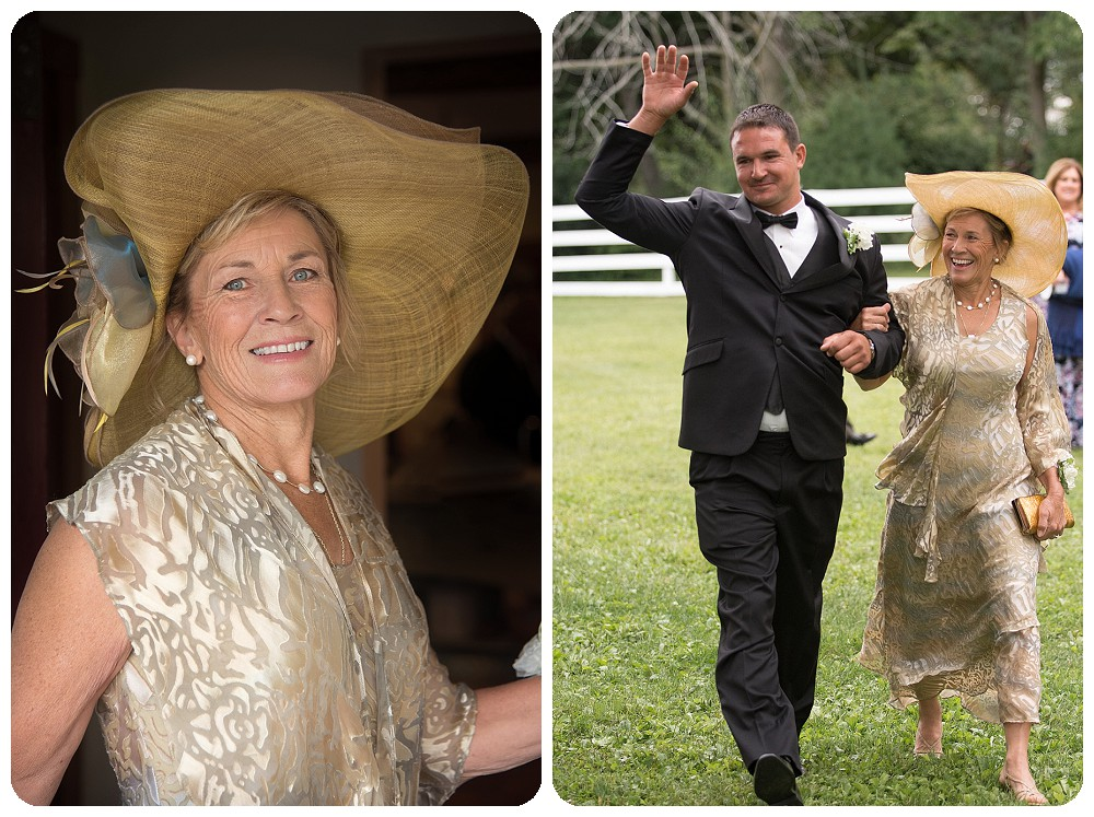 Mother of The Groom Dress Hat Upstate New York Farm Wedding