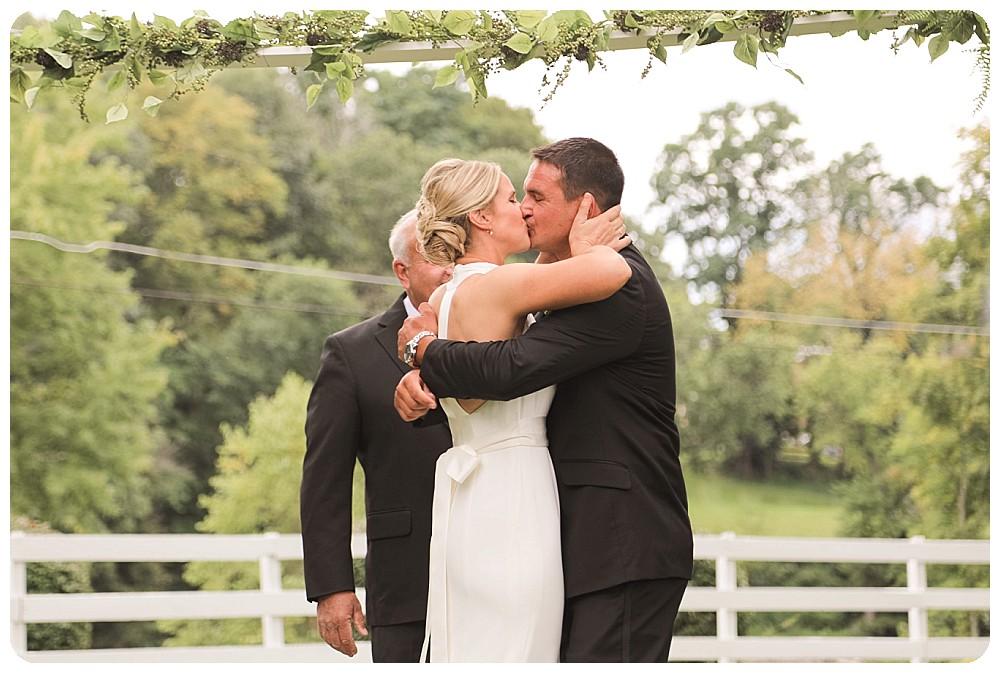 First Kiss September Weddings Upstate New York Farm Wedding