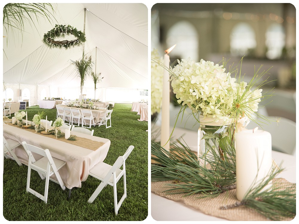 Classic Country Weddings Tent Decor White Pink Green