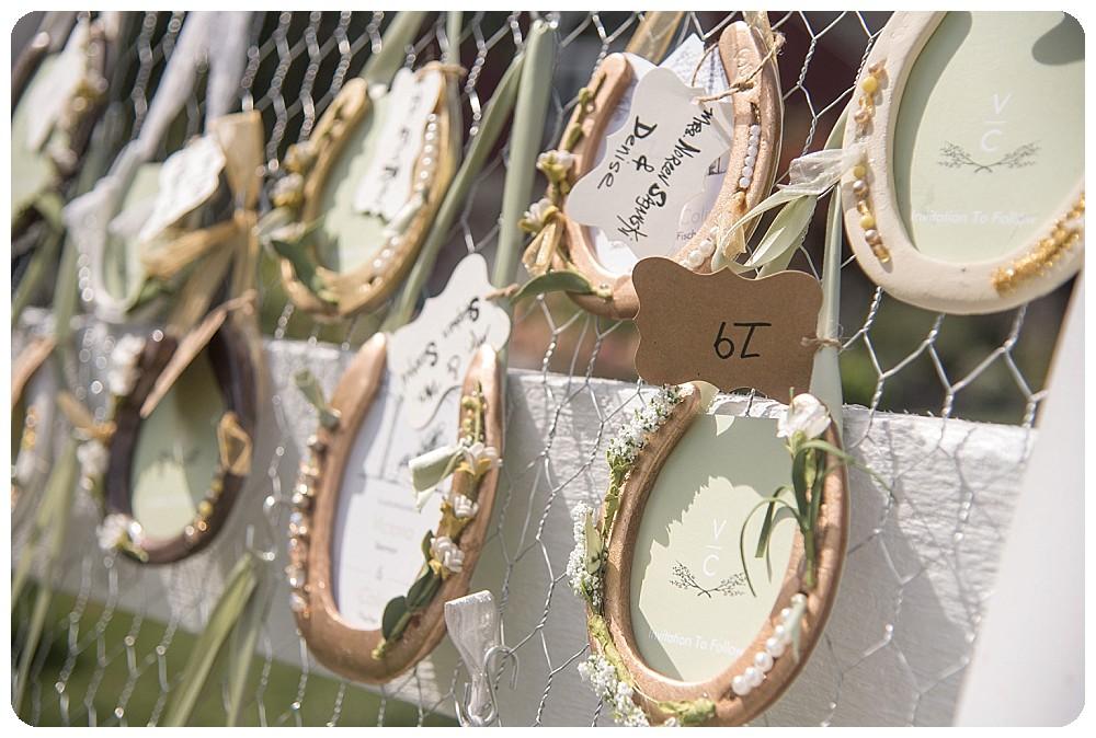 Horse Shoe Table Setting Horseshoe DIY Ideas for Weddings Upstate NY Wedding Venues Farm Weddings
