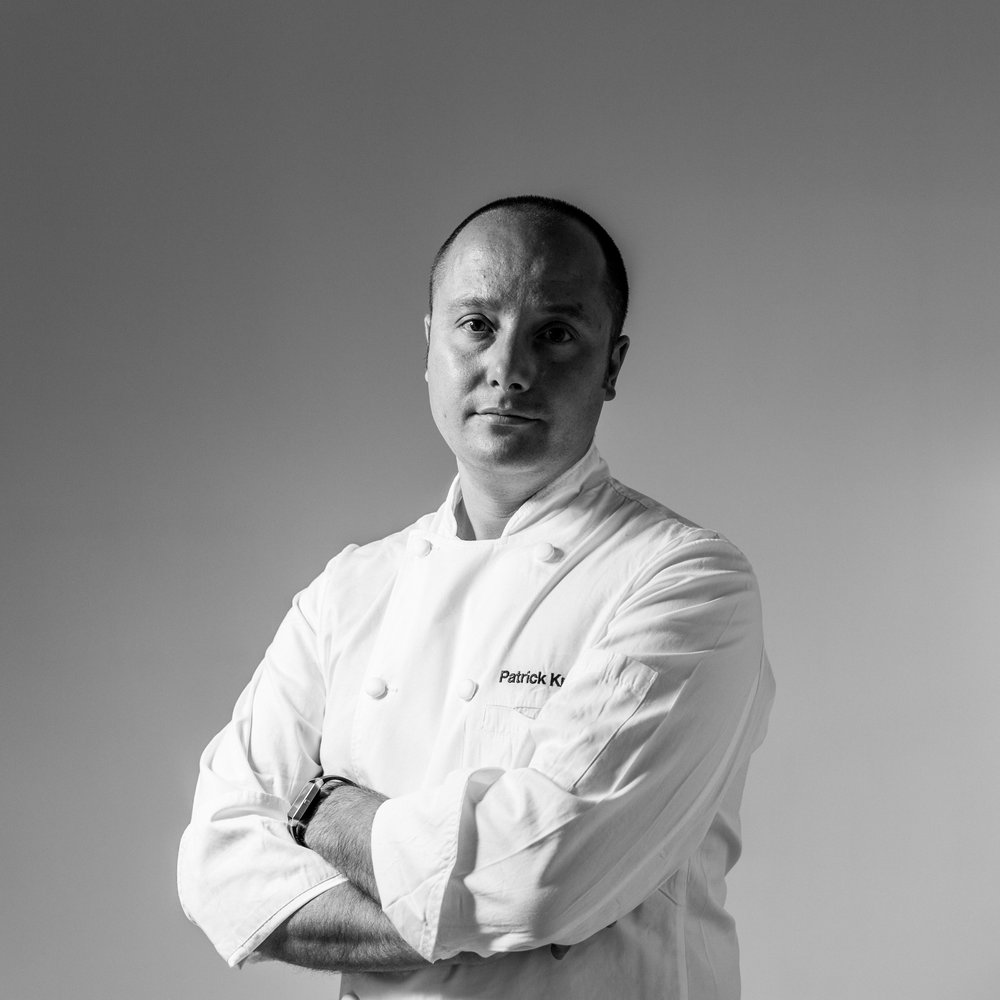 Patrick Kriss first cooked at Rosedale Golf Club (Toronto) and quickly enrolled in George Brown's culinary arts program.  He soon moved to the renowned Auberge du Pommier (Toronto). With big ambitions, Patrick trained with Chef Daniel Boulud at the Michelin-rated, Daniel (New York), before working at notable restaurants, Régis Marcon and La Maison Troisgros (France), and local hot-spots Acadia and Splendido (Toronto).  In 2015, Patrick debuted his first restaurant, alo, bringing meticulous French food and service to the heart of Toronto's fashion district. Since opening, alo has earned the esteemed designation of Relais & Châteaux (2017), been crowned Canada's Best Restaurant (2017) by Canada's 100 Restaurants and has earned the elusive four-star rating by the Globe and Mail. On the heels of this success, Patrick has just opened his second restaurant, aloette.
