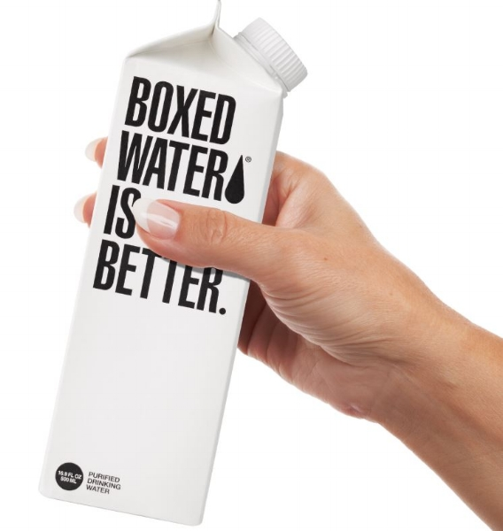 Boxed Water   Part sustainable water company, part philanthropic project. Boxed Water is obsessed over providing the purest water in the most sustainable way. They're not satisfied with the status quo - our planet doesn't need more plastic bottles. They're constantly finding new ways to make a positive impact for our planet.