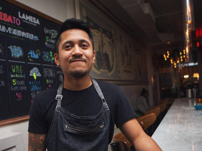 Born in Hong Kong, raised in the Philippines, Daniel Cancino fell in love with the flavours of home cooked Filipino and Chinese cuisine from a young age. He got his first industry job as a dishwasher/prep cook at 15 before deciding to go to George Brown to attend their culinary program. Afterwards, Cancino proceeded to cook at several restaurants in Toronto before taking on the role as Executive Chef at Mineral. He most recently worked as Head Chef at Lamesa and Lasa for 3 years. Daniel's interpretation of south east Asian cuisine references nostalgic flavours and aromas from growing up in the Philippines and Hong Kong, while using ingredients and techniques learned from cooking professionally in Toronto. He ties that all to creating unique interpretations of classic dishes.