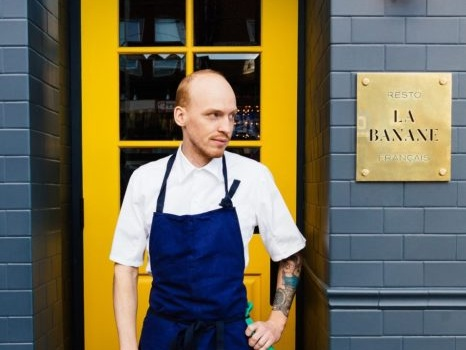 "Chef Brandon Olsen and his wife Sarah opened  Restaurant La Banane  (named Canada's Best New Restaurant 2017), where reimagined French classic dishes are complemented by an extensive raw bar. He is also the owner of the award winning CXBO Chocolates. The CXBO Disco Egg, served in opulent style with a gold spoon, is the star of the after-dinner menu and has been frequently hailed in the media as the ""most Instagrammable dessert of 2017. Originally from Burlington, the budding chef cut his teeth at various Toronto kitchens in his early 20s. He then moved to California's Napa Valley in 2006 to work for Thomas Keller's famed restaurants: the French Laundry (ranked the world's best restaurant during Olsen's stint) and Ad Hoc. His inspiration comes from his time spent learning the techniques and methodologies in Keller's chocolate program."