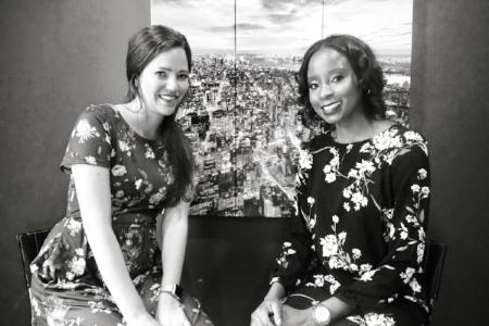 Noelle Corum and Pam Mutumwa