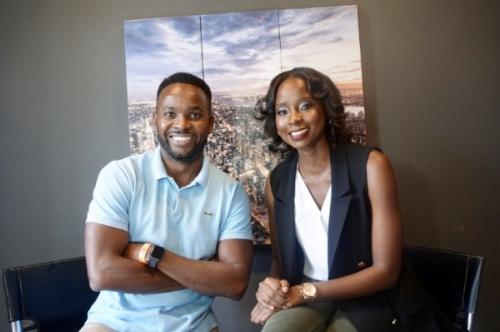 Sean Newman and Pam Mutumwa