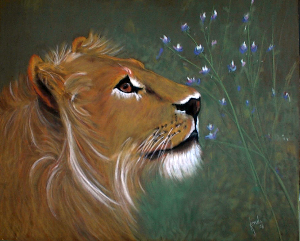 Fonda Haight - lion flowers.jpg