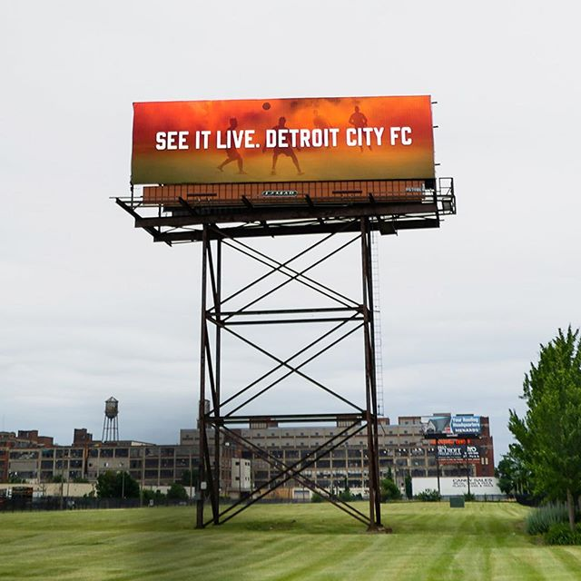 More stoppage time work for @detroitcityfootballclub. Seen here: SEE IT LIVE billboard off I-75 and I-94